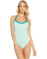 Splendid - Color Block One-piece (aqua) Women's Swimsuits One Piece - Lyst