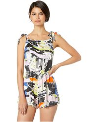 The Bikini Lab Newsflash Romper Cover-up - Multicolor