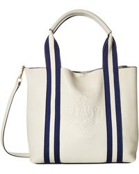 96bc1adf4c0e Lauren by Ralph Lauren - Huntley Harper 27 Small Tote (vanilla) Handbags -  Lyst