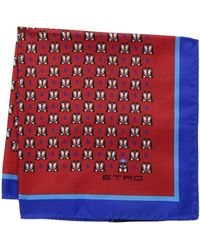 Etro - 35 X 35 Jamul Pocket Square (red) Ties - Lyst