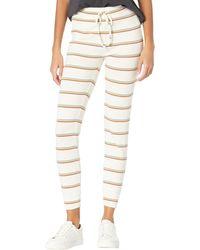 Madewell Mwl Breeze Slim Sweatpants In Martie Stripe - Natural