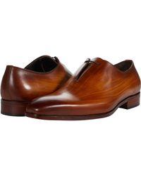 Massimo Matteo Almansa Oxford Side Lace Shoes - Orange