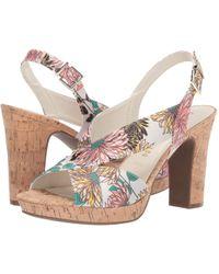 587650f5d9c7 Anne Klein - Pauline Heeled Sandal (black) Women s Flat Shoes - Lyst