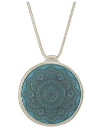 The Sak - Etched Inlay Pendant Necklace 28 (turquoise) Necklace - Lyst