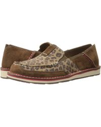 Ariat - Cruiser (bean Suede/pastel Aztec Print) Women's Slip On Shoes - Lyst