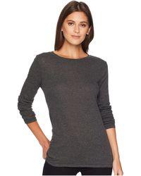 Dylan By True Grit - Heather Crew Long Sleeve Tee (navy) Women's T Shirt - Lyst