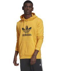 adidas Originals Trefoil Hoodie Sweatshirt - Yellow