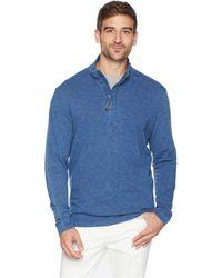 Mod-o-doc - Francis 1/4 Zip Pullover French Terry (indigo) Men's Sweatshirt - Lyst