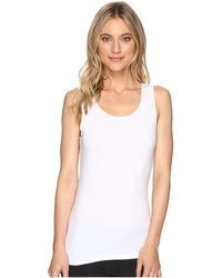 Hanky Panky Cotton With A Conscience Scoop Neck Tank Top - White