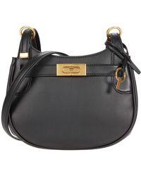 Tory Burch - Lee Radziwill Small Saddlebag Handbags - Lyst