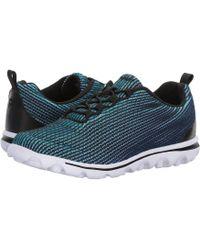 Propet - Travelactiv Express (black/blue) Women's Shoes - Lyst
