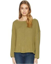 Free People - Be Good Terry Pullover (moss) Women's Clothing - Lyst