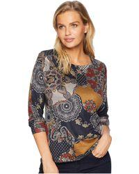 Nally & Millie - Long Sleeve Paisley Print Top (multi) Women's Clothing - Lyst