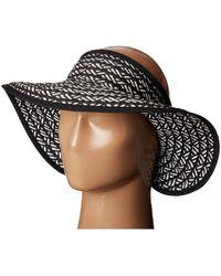 San Diego Hat Company - Ubv007 Adjustable Roll Up Visor With Ribbon Edge (black/white) Casual Visor - Lyst