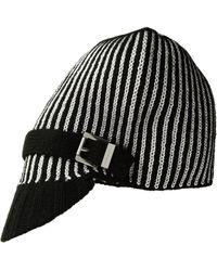 f7a4b28dd43 MICHAEL Michael Kors - Pinstripe Double Face Jacquard Peak Hat - Lyst