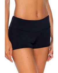 Sunsets Seascape Swim Shorts Swimwear - Black