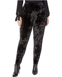MICHAEL Michael Kors Plus Size Velvet Leggings - Black