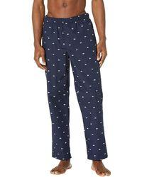 Lacoste All Over Print Croc Pajama Pants Pajama - Blue