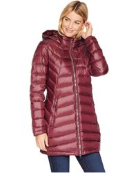 Spyder - Syrround Long Down Jacket (black/black) Women's Coat - Lyst