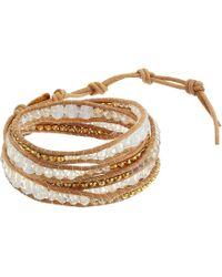 "Chan Luu - 32"" Mystic Clear Mix Wrap Bracelet - Lyst"