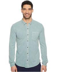 Mod-o-doc - Bass Rock Long Sleeve Button Front Polo Shirt (oasis Stone) Men's Long Sleeve Button Up - Lyst
