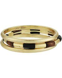 Lucky Brand - Wood Bangle Set Bracelet - Lyst