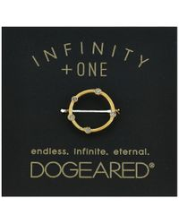 Dogeared - Infinity + One, Halo W/ Crystal Ring - Lyst