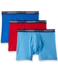 Nautica Comfort Cotton Underwear Boxer Brief Multi Pack - Blue