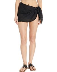 Robin Piccone Pareo With Ric Rac Trim Cover-up - Black