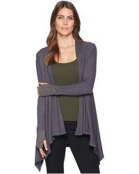 Allen Allen - L/s Open Cardigan W/ Thumbhole Cuffs (cilantro) Women's Sweater - Lyst