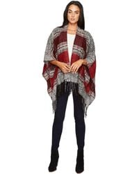 San Diego Hat Company - Bsp3535 Soft Woven Poncho With Fringe - Lyst