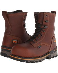 Timberland - 8 Boondock Comp Toe Wp (brown) Men's Work Boots - Lyst