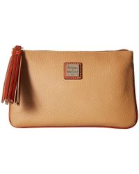 Dooney & Bourke - Pebble Carrington Pouch (bone/tan Trim) Handbags - Lyst