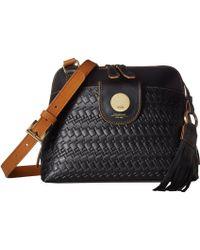 Lodis Rodeo Woven Rfid Izabella Crossbody (black) Cross Body Handbags