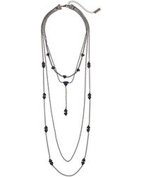 Steve Madden - 4 Layer Beaded Curb Necklace (blue) Necklace - Lyst