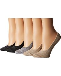 Steve Madden - 5-pack Marl Footie (black Marl) Women's Crew Cut Socks Shoes - Lyst