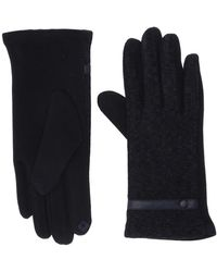 San Diego Hat Company Kng3608 Knit Ribbed Gloves Velour Lining - Blue