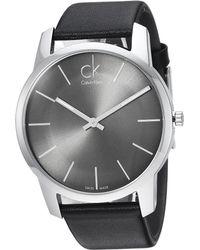 Calvin Klein - City Watch - K2g21107 (cool Grey/black) Watches - Lyst