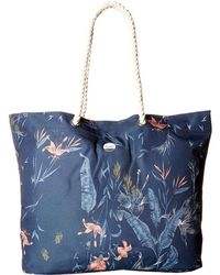 Roxy - Tropical Vibe Printed Beach Bag - Lyst
