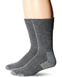 Dr. Scholls American Lifestyle Casual Advanced Relief Crew Socks 2 Pair - Gray