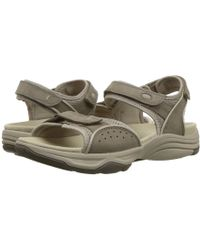 40b231f9b9da Clarks - Wave Grip (black Synthetic) Women s Sandals - Lyst