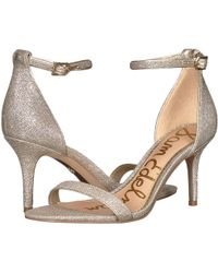 d55ab1a264846a Sam Edelman - Patti Strappy Sandal Heel (black Patent) High Heels - Lyst