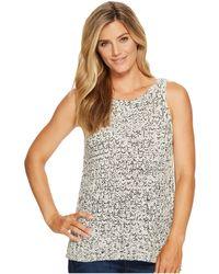 c40a02d551778 NYDJ - Tape Yarn Sweater Tank Top (natural Black) Women s Sleeveless - Lyst