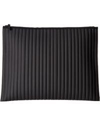 NO KA 'OI - Striped Gummed Pouch (black) Clutch Handbags - Lyst