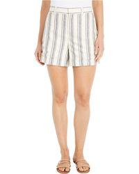 Lauren by Ralph Lauren Petite Striped Linen Twill Shorts - Natural