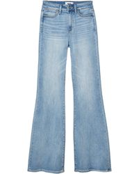 PAIGE Genevieve Flare W/ Braided Detail Jeans In Joannis - Blue