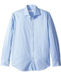 Robert Graham - Edmundo Check Long Sleeve Dress Shirt (blue) Men's Long Sleeve Button Up - Lyst