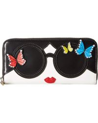 Alice + Olivia Candice Staceface Butterflies - Black