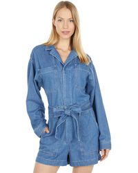 AG Jeans Ryleigh Tie Romper - Blue