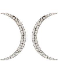Shashi - Crescent Earrings (white/gold) Earring - Lyst